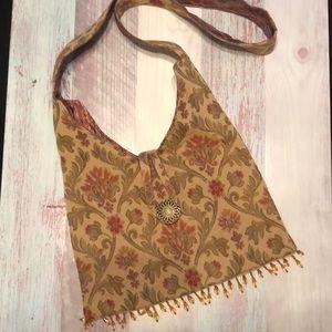Crossbody handmade tapestry bag